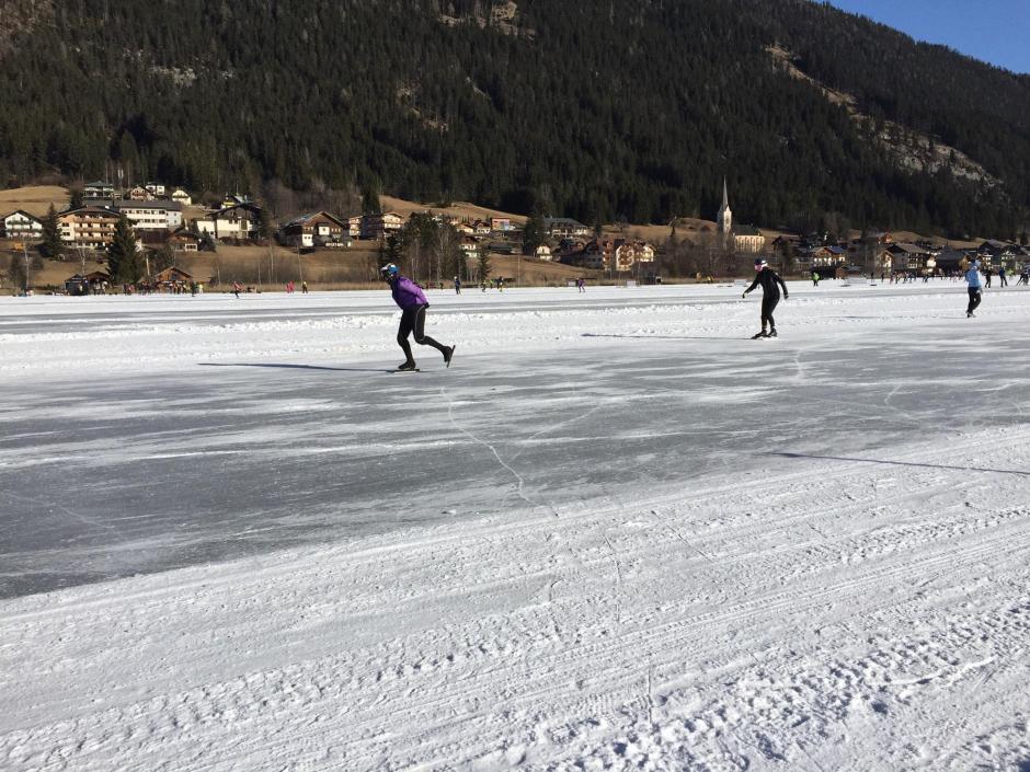 Schaatsen op de Weissensee is een prachtige ervaring!